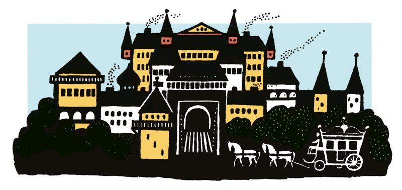 Illustration aus der großen Märchensammlung